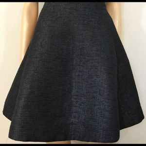 Kate Spade black metallic circle skirt